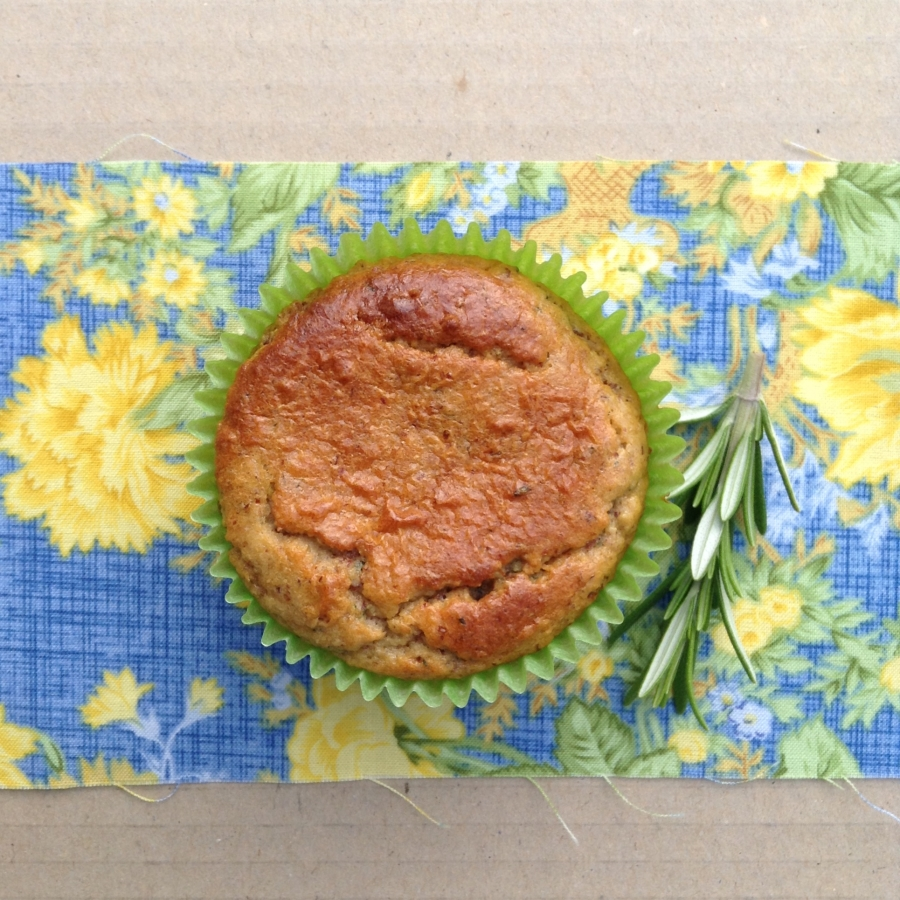 Optimized-lemon, zucchni and rosemary muffins